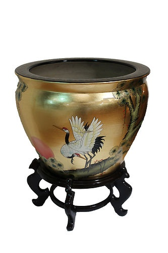 Oriental Fish Bowl & Stand, Oriental Furniture Chinese Feng shui | eBay