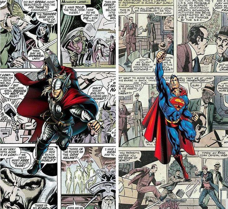 Comic Superhelden Wallpaper Thor Hulk Iron Man 3d Wandbild