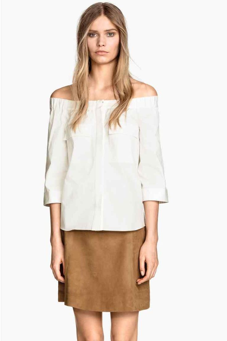 Blusa ombros descobertos | H&M