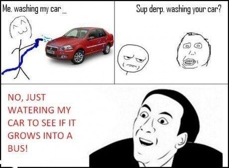 You don't say – Washing my car