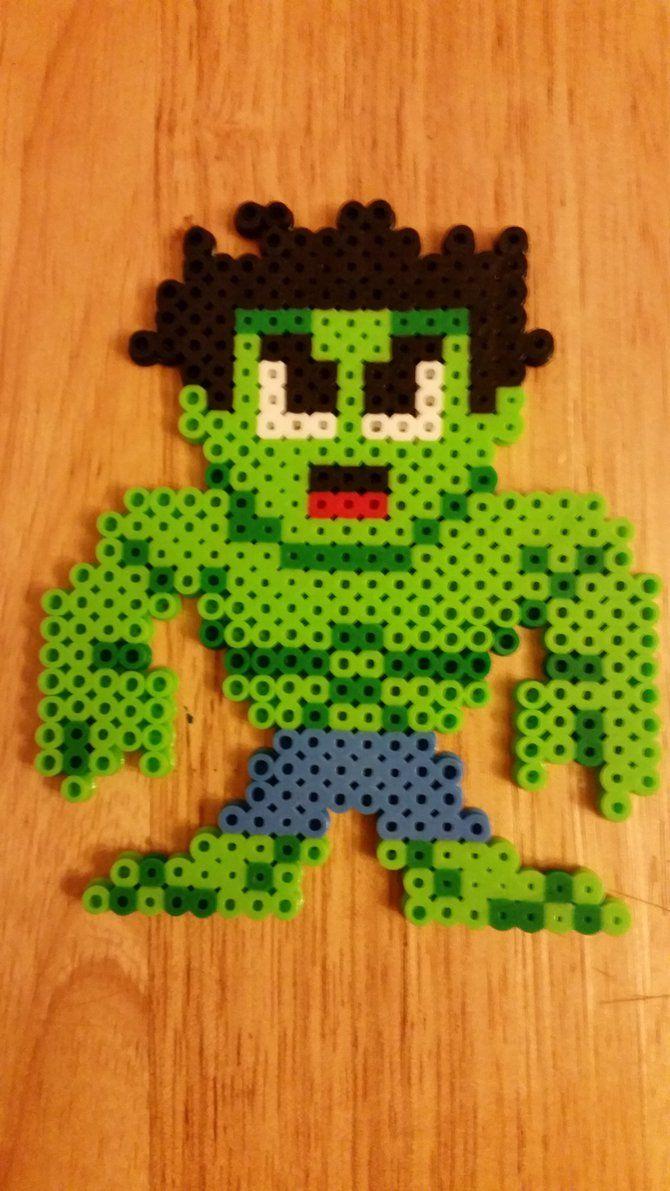 Incredible Hulk perler beads by jrfromdallas