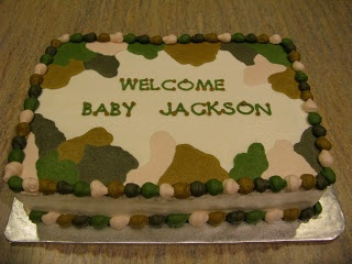 A Counselors Confections: Camo Themed Baby Shower Cake