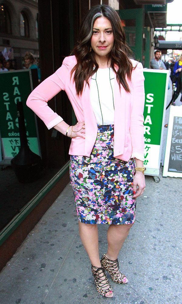 Pink Blazer by Rebecca Minkoff, White Blouse by Zara, Print Pencil Skirt by Erdern #WNTW