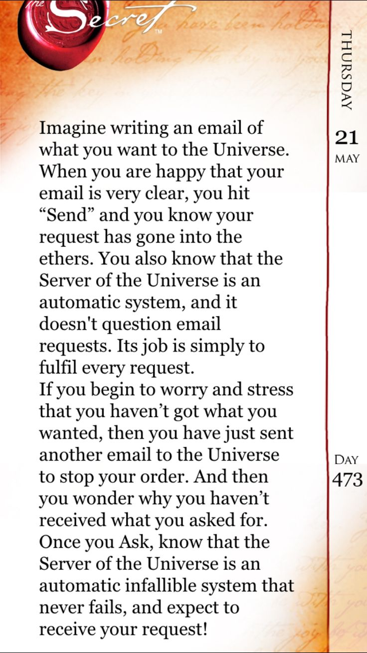 Email The Universe With Great Intention Of What You Want!!