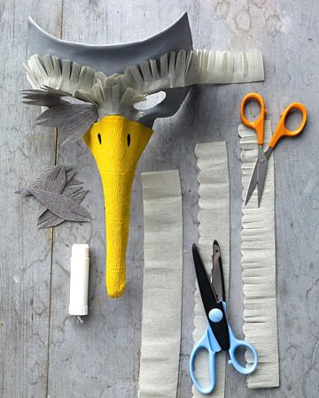 Masque d'oiseau à faire avec les enfants !