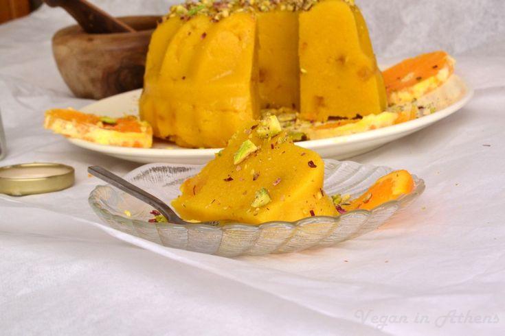 Fragrant Greek halva with saffron and orange – #sugarfree, #glutenfree #halva #vegandessert