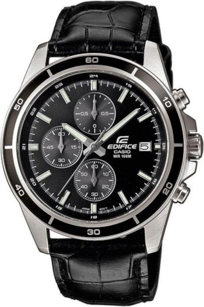 Casio Quarzuhr Efr 526l 1avuef Herren Schwarz Grosse One Size Uhren Herren Quarzuhr Uhren