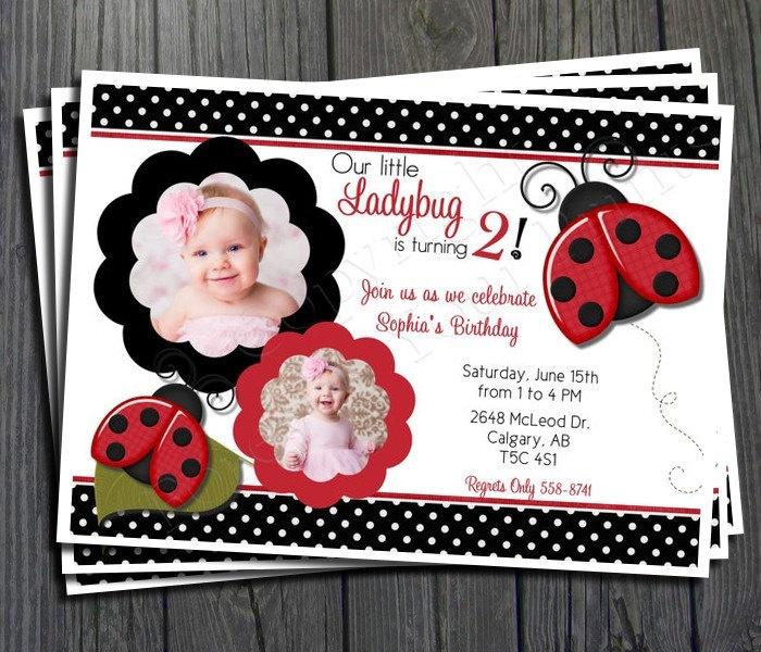 1000+ Ideas About Ladybug Invitations On Pinterest