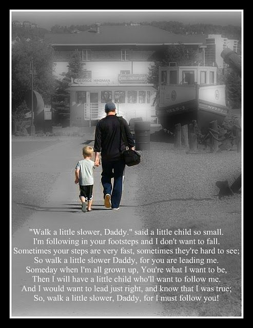 Daddys footstep poem by The Gunny Sack