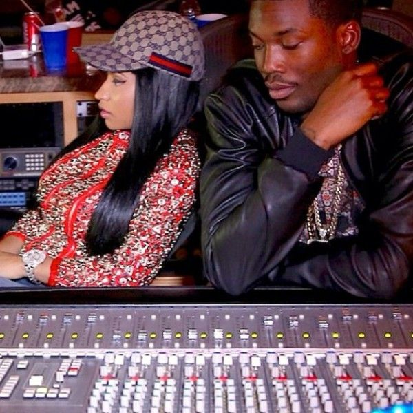 This past month, Meek Mill and Nicki Minaj have shared several photos of themselves together in studio on Instagram. Today, Meek Mill took to his Twitter to reveal he has a new track and it features Nicki Minaj, Fabolous and French Montana! The new track will be released later tonight. Stay tuned.    	Dropping new shit tonight! Meek mill.....Nicki.....Fab.....French  	— Meek Mill (@Meek Mill) September 4, 2013