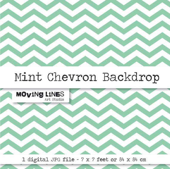 7 Feet Large Digital Background JPG File Mint by MovingLines