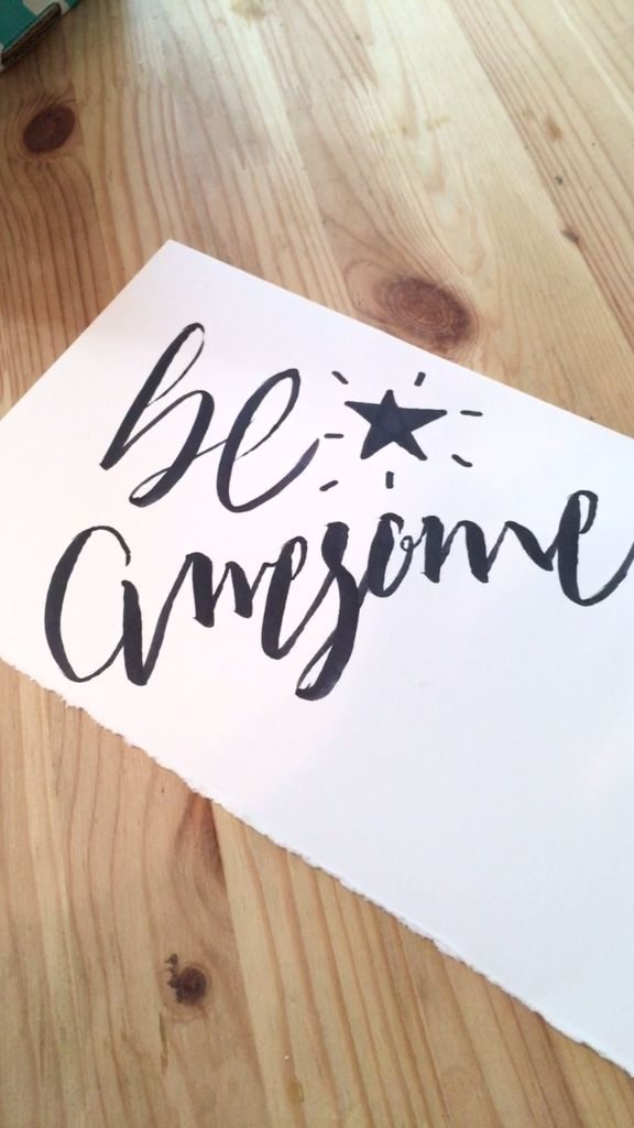 Be Awesome Hand Lettering
