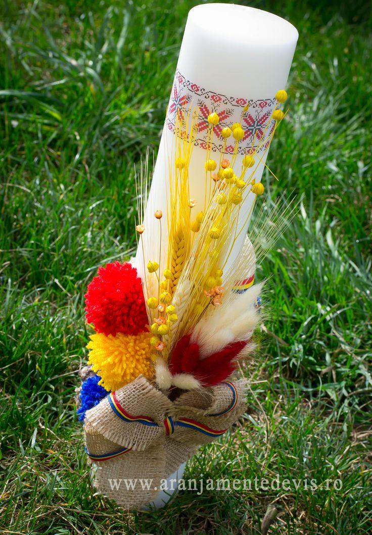 Detalii rustice pentru lumanari de botez www.aranjamentedevis.ro