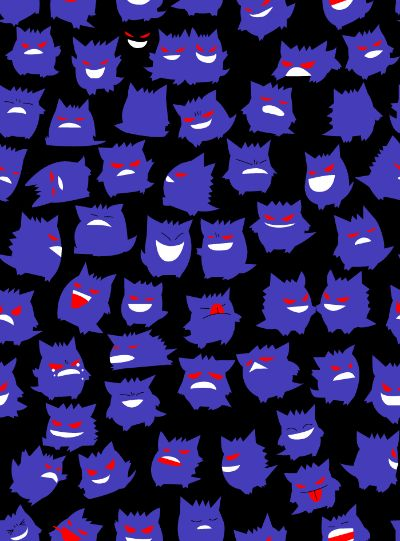 Gengar wallpaper | Gen Wunners | Pinterest | Patterns, I ...