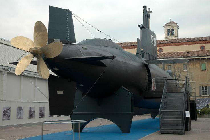 Museo della Scienza e della Tecnologia_ Sottomarino S 506 Enrico Toti, varato nel 1967