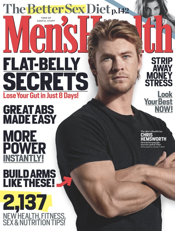 May 2011  Cover guy: Chris Hemsworth