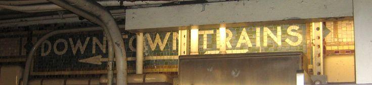 Vintage subway signs | Ephemeral New York