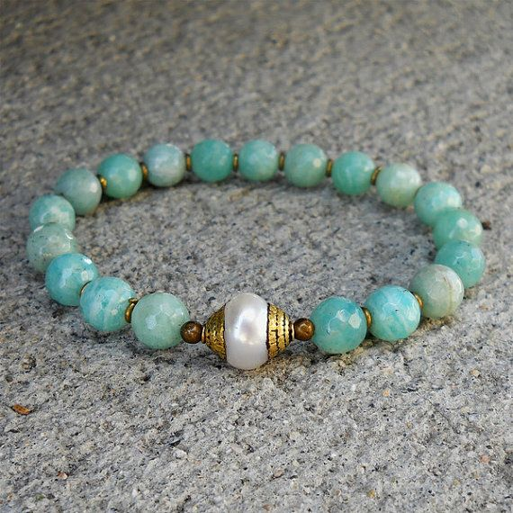 Amazonite gemstones African trade beads and Tibetan by lovepray