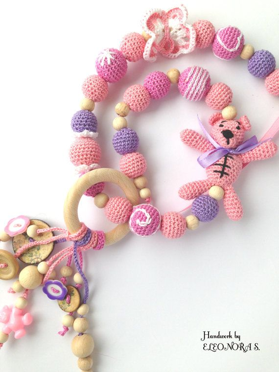 Nursing necklace breastfeeding necklace teething by ILoveAmigurumi