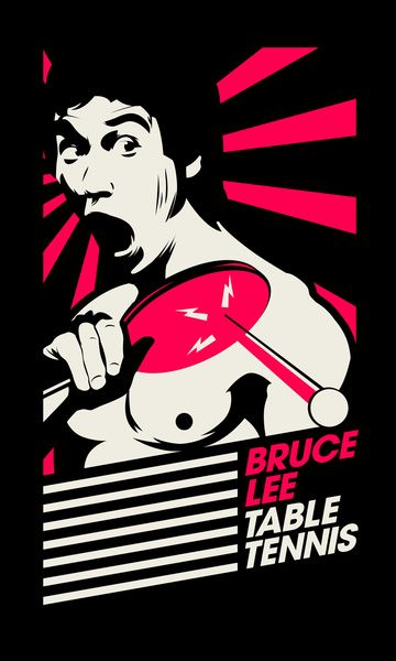 Bruce Lee Table Tennis - Love the expression. #tabletennis #pingpong #brucelee