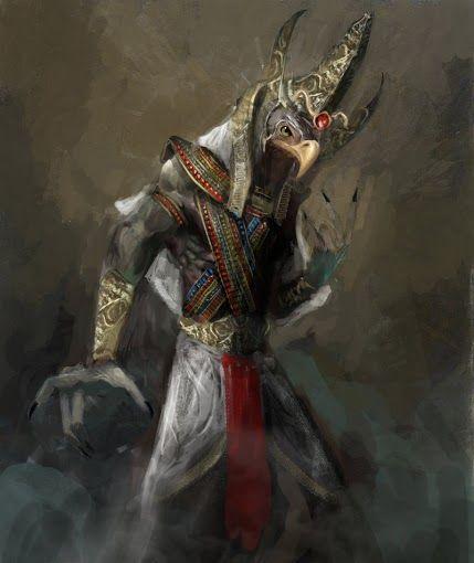 Heru-Wer (Heru the Elder), Brother of Wesir (Osiris), Set, Aset (Isis) and Nebt-het. Uncle of Heru-sa-Aset (Heru, son of Aset)