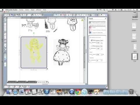 """Découper ou dessiner un """"message"""" sur un fichier Silhouette - YouTube"""