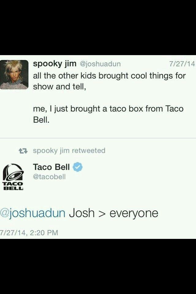 Josh Dun and Taco Bell