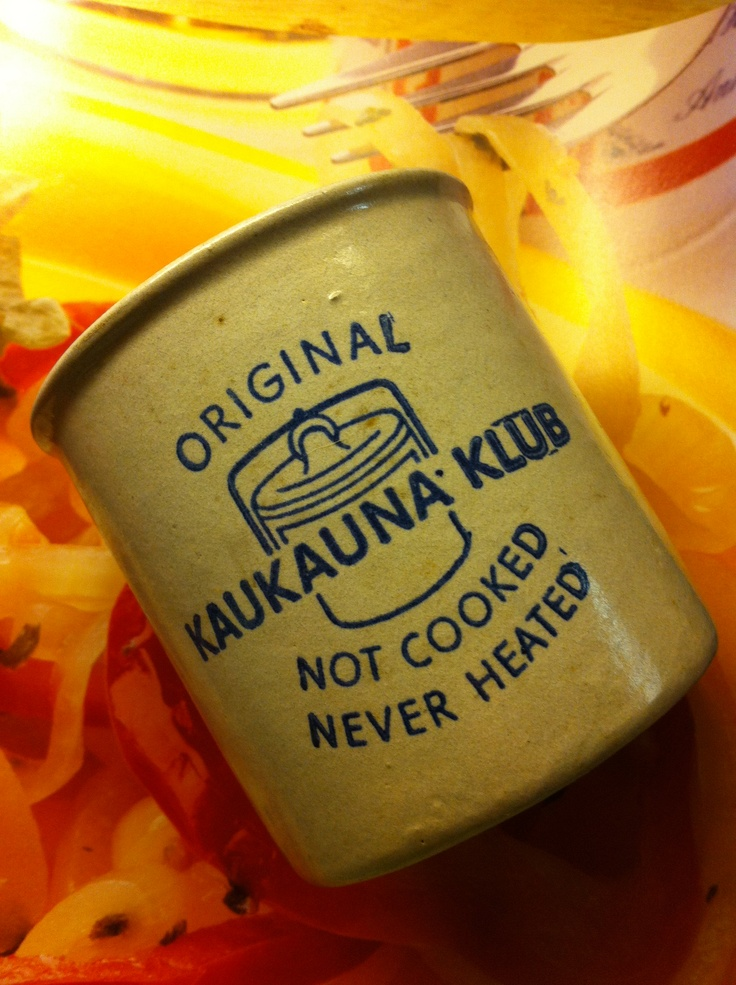 $.50 Old Kaukauna cheese spread crock