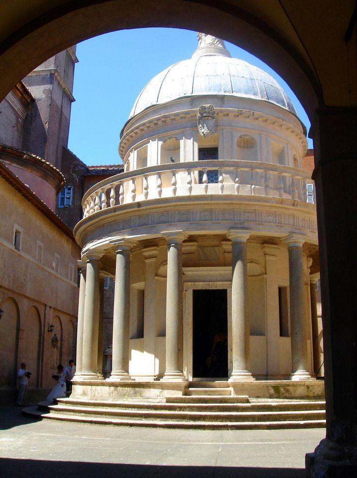 Bramante, Templete pagado por los reyes católicos por la conquista de Granada