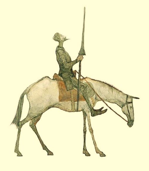 Don Quixote by Svetlin Vassilev... on his way to another Book Sale, no doubt!...
