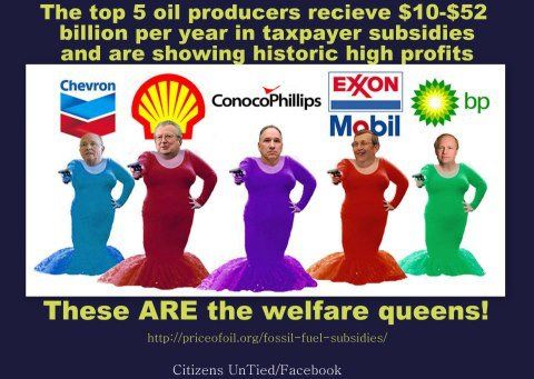 """.The REAL """"welfare queens"""" in America.."""