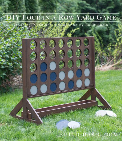 DIY Four In A Row Backyard Game - full step by step instructions...how cool!!!