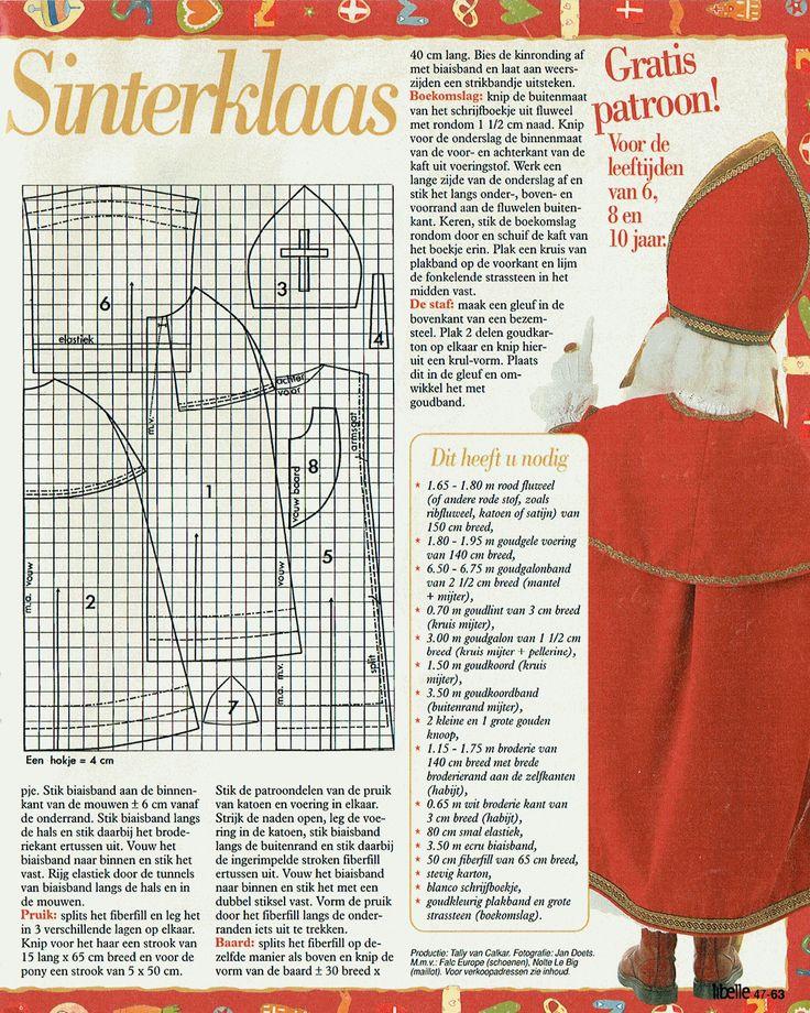 patroon 2 van 2 voor een hulp Sinterklaas, komt uit een oude Libelle