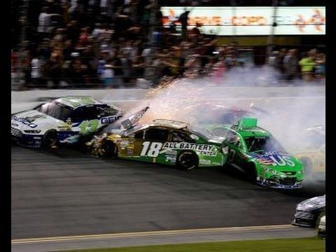 Nascar - Danica Patrick and Kyle Busch POV During Final Lap Wreck - YouTube