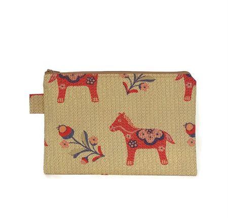 Dala Horse Pencil Stationery Case Zipper Pouch
