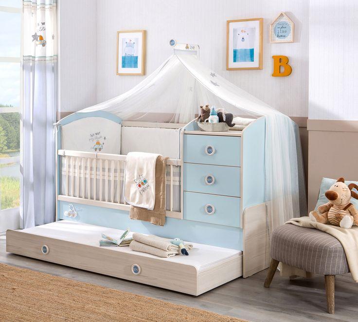 Babykamer blauw, klamboe babykamer, inspiratie babykamer