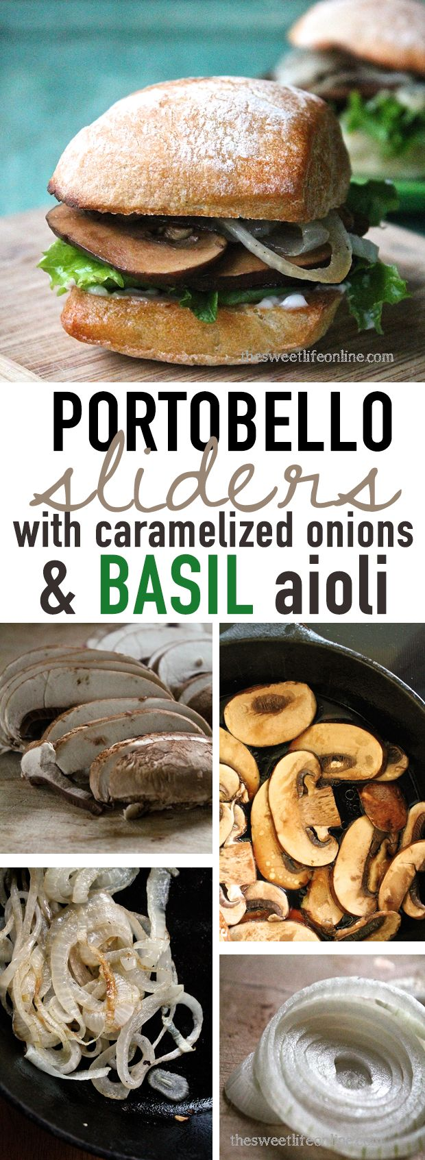 These vegan Portobello Sliders with Basil Aioli are so incredibly good, even your vegan-skeptic friends will be impressed. Click the photo for the full recipe.