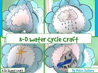 3D Water Cycle Craft. Can not wait to do this in addition to The Magic School Bus water experiments!