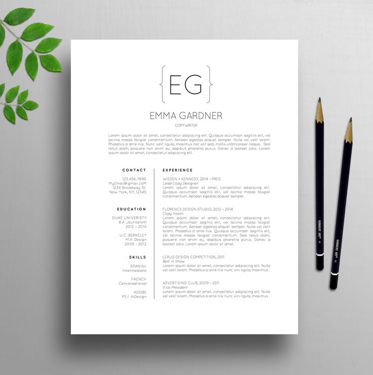 21 best Professional Resume CV Templates images on Pinterest - campground manager sample resume