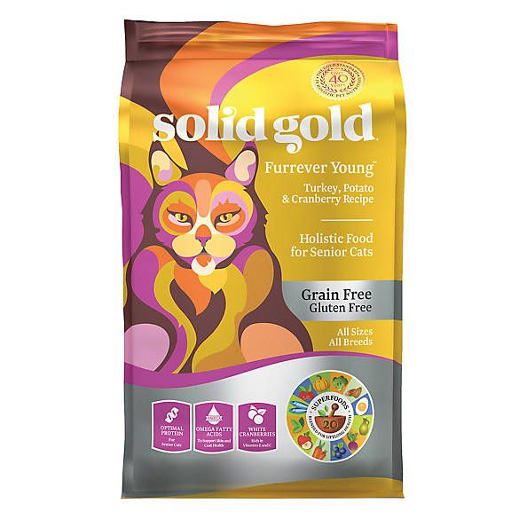Solid Gold Furrever Young Cat Food Turkey Potato Cranberry