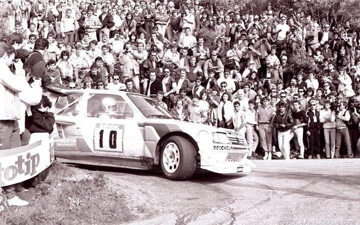Michèle Mouton - Fabrizia Pons 30º Tour de Corse 1986. Peugeot 205 Turbo 16 E2. Abandonó por la caja de cambios. Admiro a esta mujer amig@s........ la admiro profundamente. Grande Michèle!!!!!