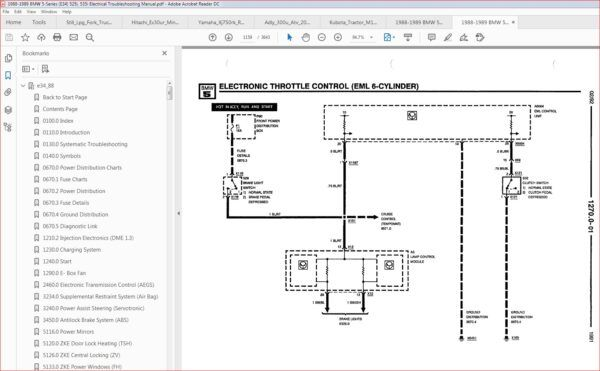 Bmw 1988 1989 5 Series E34 525i 535i Electrical Troubleshooting Manual In 2020 Electrical Troubleshooting Manual Electricity
