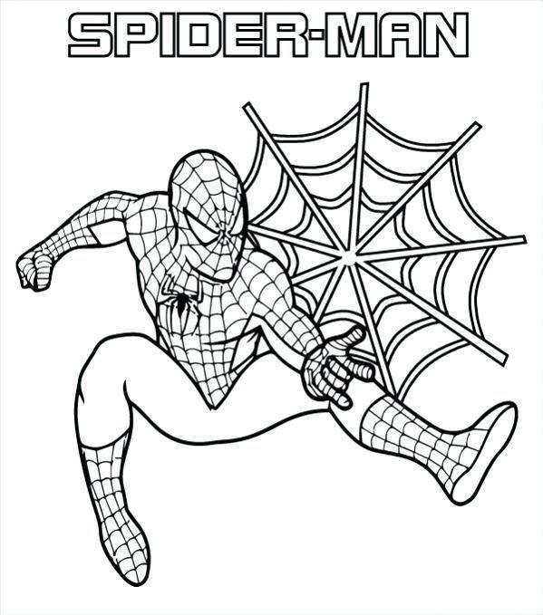 Free Spiderman Coloring Pages Di 2020 Gambar