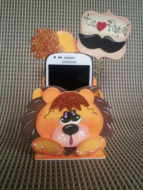 Porta celular.. león