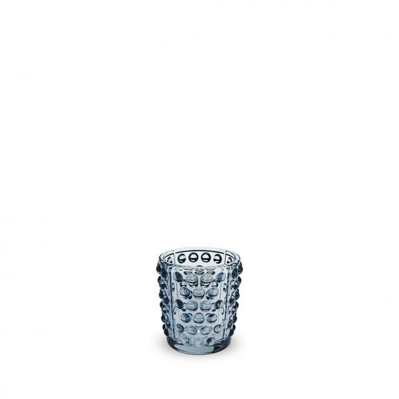Lalique Mossi Votive Blue Luster