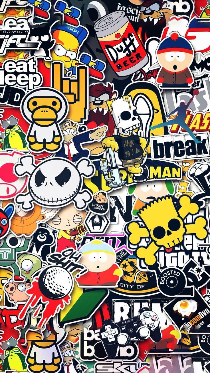 Gangsta Funky Iphone Background in 2020   Sticker bomb ...