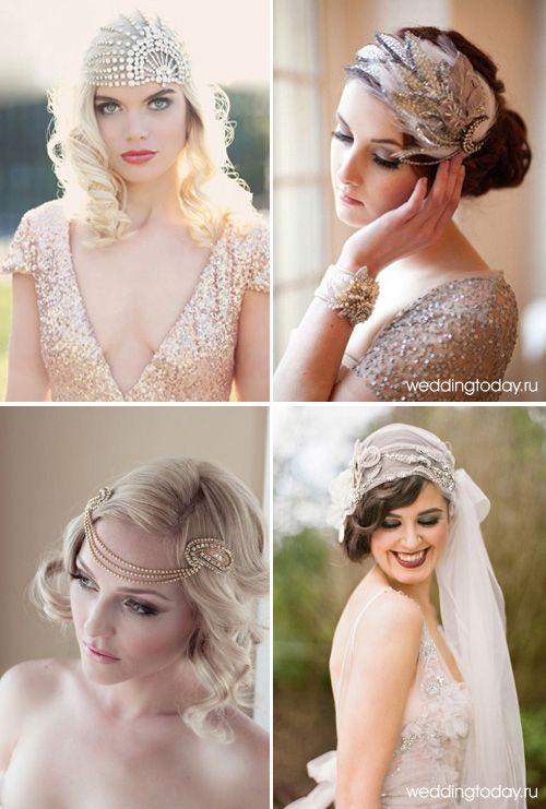 прическа невесты в стиле ретро с ободком - Поиск в Google