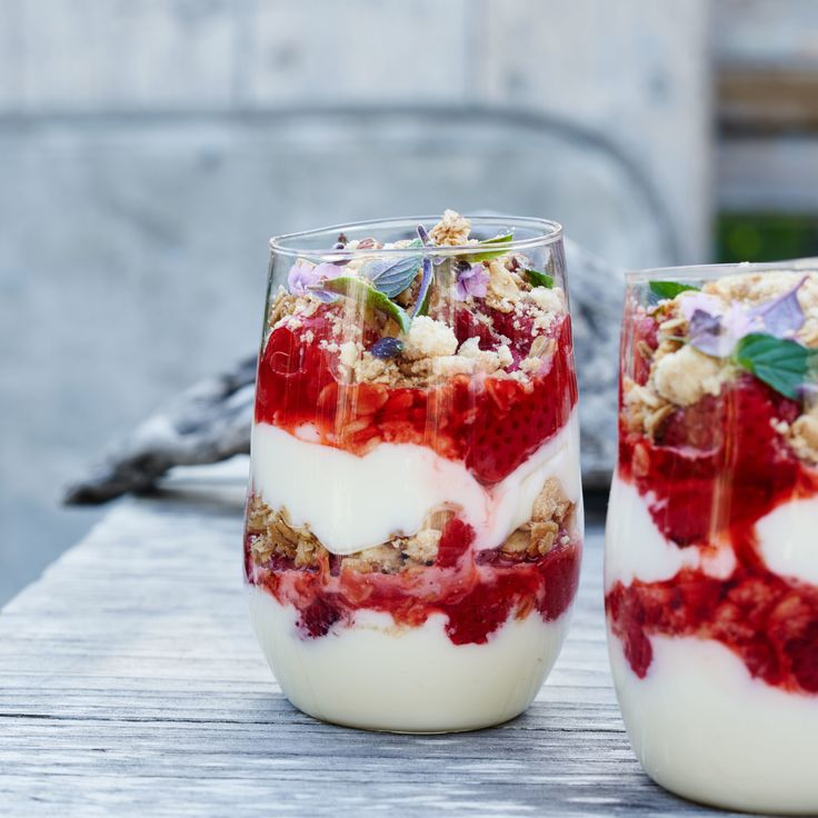 Roasted Strawberry Trifles With Lemon Cream. Roasting the strawberries intensifies their sweetness.