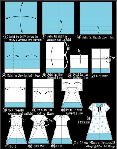 Как сделать платье оригами своими руками