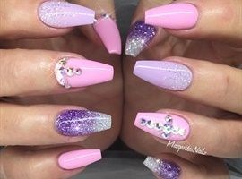 Baby Pink And Purple by MargaritasNailz